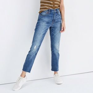 NWT Madewell High-Rise Slim Boy Jean Dover Wash